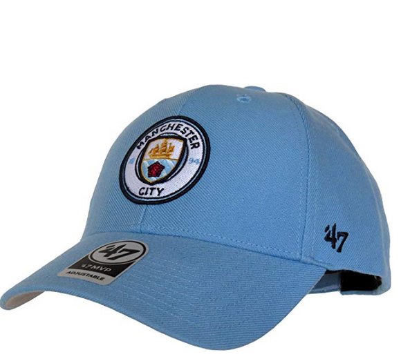 f2b5083e793 Men s Manchester City EPL 47 Brand MVP Powder Blue Adjustable Hat Cap - Bleacher  Bum Collectibles