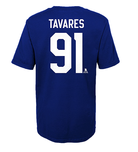 Youth Toronto Maple Leafs John Tavares Blue Home Name & Number T-Shirt - Bleacher Bum Collectibles, Toronto Blue Jays, NHL , MLB, Toronto Maple Leafs, Hat, Cap, Jersey, Hoodie, T Shirt, NFL, NBA, Toronto Raptors