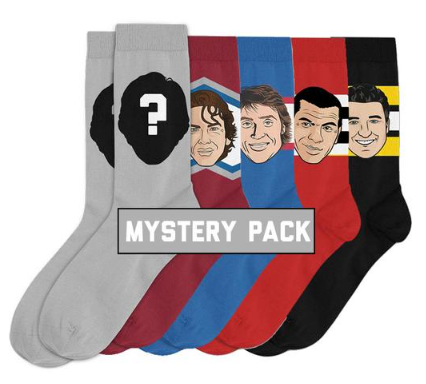 Mystery Pack Sockey Hall Of Fame Original Socks One Size - 5 Pairs Of Random Players