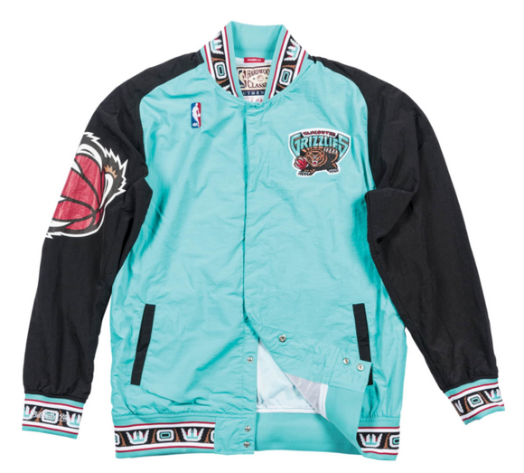 Vancouver Grizzlies Mitchell & Ness NBA Men's Retro Vintage Authentic Warm Up Jacket - Bleacher Bum Collectibles, Toronto Blue Jays, NHL , MLB, Toronto Maple Leafs, Hat, Cap, Jersey, Hoodie, T Shirt, NFL, NBA, Toronto Raptors
