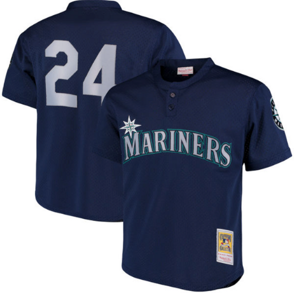 Ken Griffey Jr. Seattle Mariners Mitchell & Ness Cooperstown Collection Mesh Batting Practice Jersey – Navy - Bleacher Bum Collectibles, Toronto Blue Jays, NHL , MLB, Toronto Maple Leafs, Hat, Cap, Jersey, Hoodie, T Shirt, NFL, NBA, Toronto Raptors
