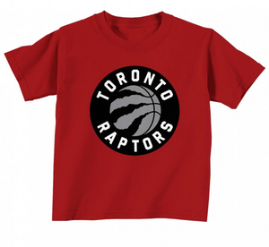 new product 79faa eaadc Toronto Raptors Toddler Red Primary Logo NBA Basketball T Shirt - Multiple  Sizes