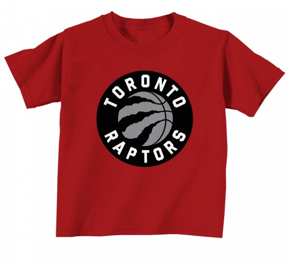 Toronto Raptors Toddler Red Primary Logo NBA Basketball T Shirt - Multiple Sizes