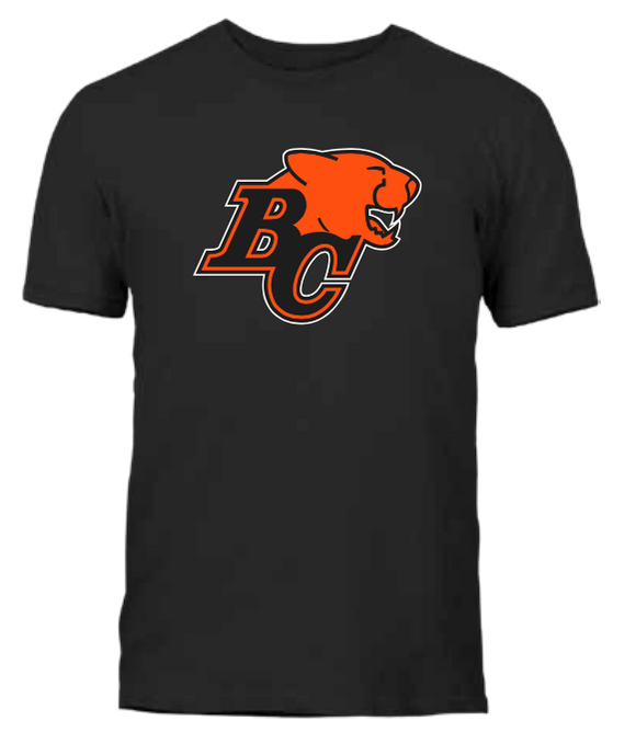 Men's British Columbia BC Lions Black Primary Logo CFL Football T Shirt - Multiple Sizes - Bleacher Bum Collectibles, Toronto Blue Jays, NHL , MLB, Toronto Maple Leafs, Hat, Cap, Jersey, Hoodie, T Shirt, NFL, NBA, Toronto Raptors