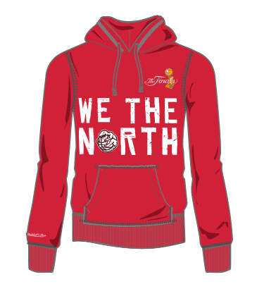 Women's Toronto Raptors Mitchell & Ness We The North The Finals Hardwood Classics Retro Logo Red Sweatshirt