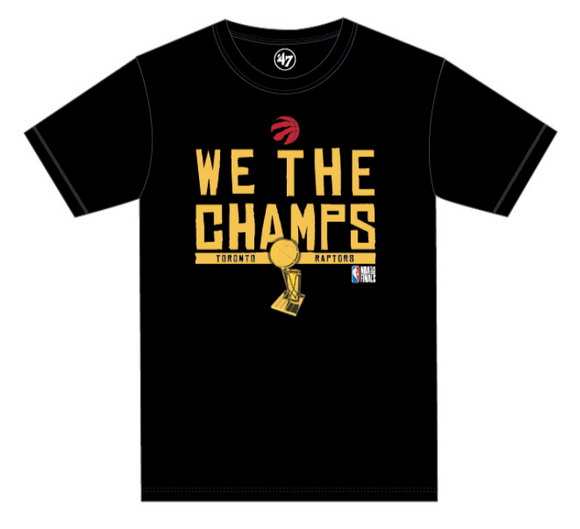 Men's Toronto Raptors We The Champs Champions Black 2019 NBA Basketball T Shirt