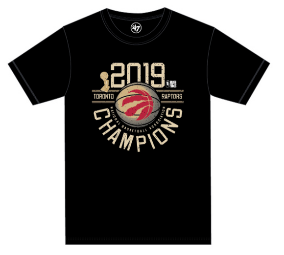 Men's Toronto Raptors The Champs Champions Black 2019 NBA Basketball T Shirt