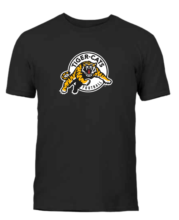 Men's Hamilton Tiger-Cats Black Primary Logo CFL Football T Shirt - Multiple Sizes - Bleacher Bum Collectibles, Toronto Blue Jays, NHL , MLB, Toronto Maple Leafs, Hat, Cap, Jersey, Hoodie, T Shirt, NFL, NBA, Toronto Raptors