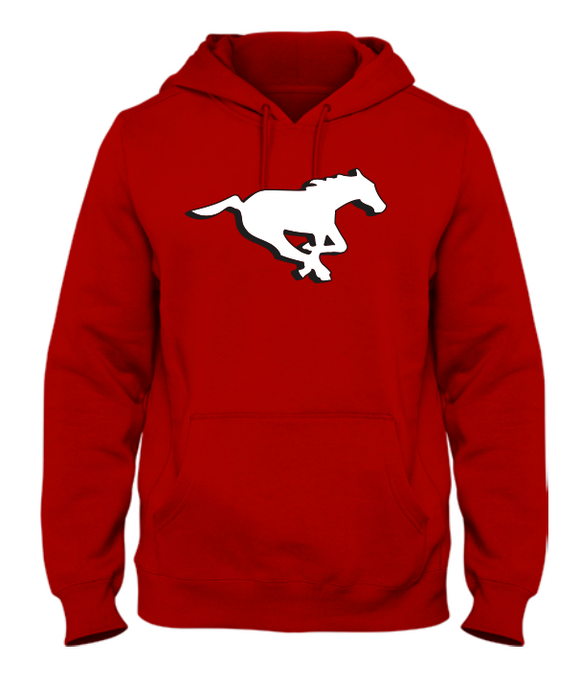 Men's Calgary Stampeders Red Primary Logo CFL Football Hooded Sweatshirt - Multiple Sizes - Bleacher Bum Collectibles, Toronto Blue Jays, NHL , MLB, Toronto Maple Leafs, Hat, Cap, Jersey, Hoodie, T Shirt, NFL, NBA, Toronto Raptors