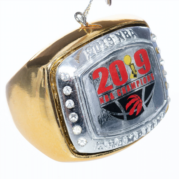Toronto Raptors NBA Basketball 2019 Champions Ring Christmas Tree Ornament