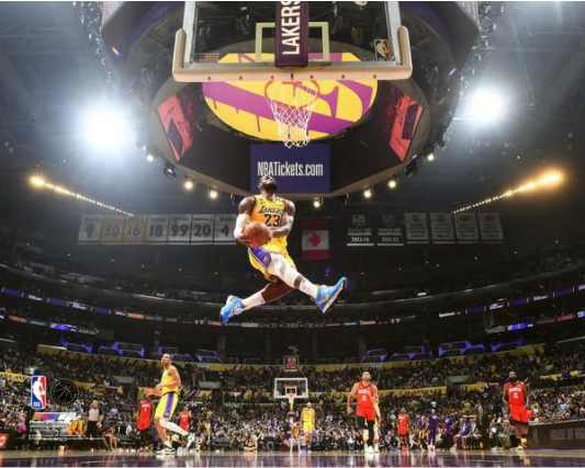 LeBron James NBA Baseball Los Angeles Lakers THE DUNK Unsigned Photo Picture 8x10 - Bleacher Bum Collectibles, Toronto Blue Jays, NHL , MLB, Toronto Maple Leafs, Hat, Cap, Jersey, Hoodie, T Shirt, NFL, NBA, Toronto Raptors