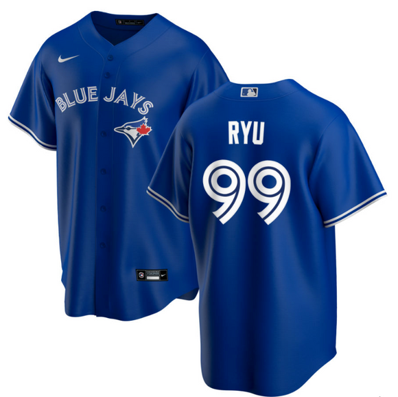 Men's Toronto Blue Jays Hyun-Jin Ryu Majestic Royal Cool Base Alternate Player Jersey - Bleacher Bum Collectibles, Toronto Blue Jays, NHL , MLB, Toronto Maple Leafs, Hat, Cap, Jersey, Hoodie, T Shirt, NFL, NBA, Toronto Raptors