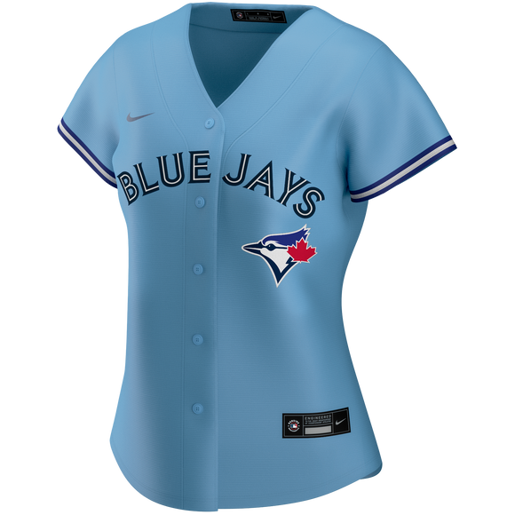 Women's Toronto Blue Jays Nike Light Blue Alternate 2020 Replica Team Jersey - Blank - Bleacher Bum Collectibles, Toronto Blue Jays, NHL , MLB, Toronto Maple Leafs, Hat, Cap, Jersey, Hoodie, T Shirt, NFL, NBA, Toronto Raptors