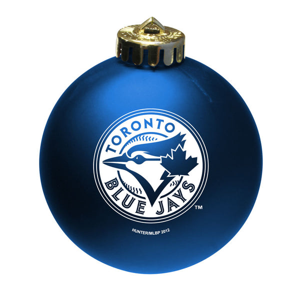 Toronto Blue Jays Shatter Proof Single Ball Christmas Ornament MLB Baseball