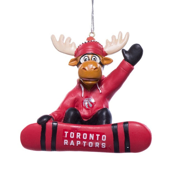 Toronto Raptors NBA Basketball Snowboard Moose Christmas Tree Ornament - Bleacher Bum Collectibles, Toronto Blue Jays, NHL , MLB, Toronto Maple Leafs, Hat, Cap, Jersey, Hoodie, T Shirt, NFL, NBA, Toronto Raptors