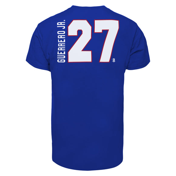 Men's Toronto Blue Jays Vladimir Guerrero Jr Blue 47 Brand Name & Number T-Shirt