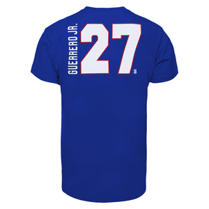Youth Toronto Blue Jays Vladimir Guerrero Jr Blue 47 Brand Name & Number T-Shirt