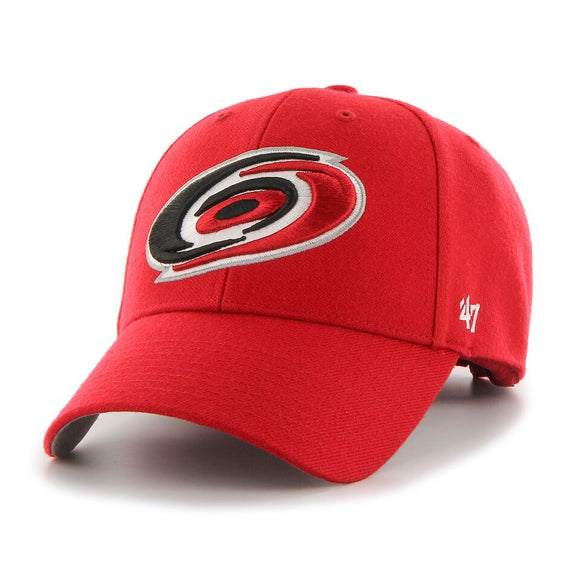 Carolina Hurricanes '47 NHL MVP Structured Adjustable Strap One Size Fits Most Red Hat Cap - Bleacher Bum Collectibles, Toronto Blue Jays, NHL , MLB, Toronto Maple Leafs, Hat, Cap, Jersey, Hoodie, T Shirt, NFL, NBA, Toronto Raptors