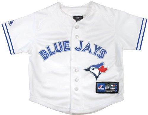 Toronto Blue Jays Kids Infant Size Jersey Cool Base White Home MLB - Bleacher Bum Collectibles, Toronto Blue Jays, NHL , MLB, Toronto Maple Leafs, Hat, Cap, Jersey, Hoodie, T Shirt, NFL, NBA, Toronto Raptors