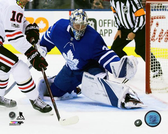 Toronto Maple Leafs Unsigned 8x10 Photograph Frederik Andersen Home Game Action - Bleacher Bum Collectibles, Toronto Blue Jays, NHL , MLB, Toronto Maple Leafs, Hat, Cap, Jersey, Hoodie, T Shirt, NFL, NBA, Toronto Raptors