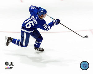 Toronto Maple Leafs Unsigned 8x10 Photograph Mitchell Mitch Marner Slap Shot Pose - Bleacher Bum Collectibles, Toronto Blue Jays, NHL , MLB, Toronto Maple Leafs, Hat, Cap, Jersey, Hoodie, T Shirt, NFL, NBA, Toronto Raptors