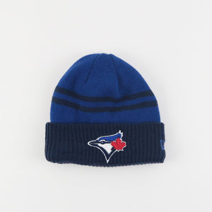 Kids Toronto Blue Jays Arctic Trim Cuffed Toque/Beanie Made By New Era - 3 Sizes - Bleacher Bum Collectibles, Toronto Blue Jays, NHL , MLB, Toronto Maple Leafs, Hat, Cap, Jersey, Hoodie, T Shirt, NFL, NBA, Toronto Raptors
