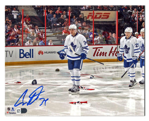 Auston Matthews Toronto Maple Leafs Autographed 1st Game - 4 Goal 11x14 Photo - Bleacher Bum Collectibles, Toronto Blue Jays, NHL , MLB, Toronto Maple Leafs, Hat, Cap, Jersey, Hoodie, T Shirt, NFL, NBA, Toronto Raptors