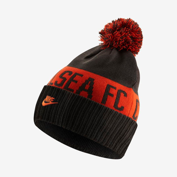 Team Chelsea Football Club Soccer EPL Anthracite Orange Team Word Mark Cuffed Knit Pom Toque Beanie - Bleacher Bum Collectibles, Toronto Blue Jays, NHL , MLB, Toronto Maple Leafs, Hat, Cap, Jersey, Hoodie, T Shirt, NFL, NBA, Toronto Raptors