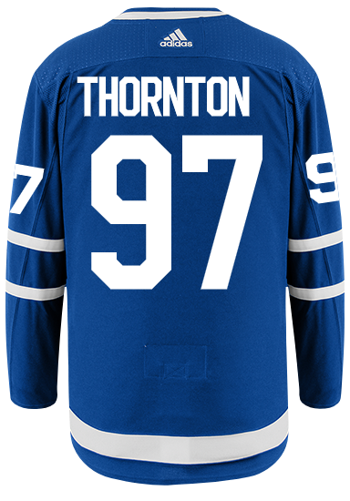 Men's Toronto Maple Leafs Joe Thornton  adidas Blue Authentic Player Hockey Jersey