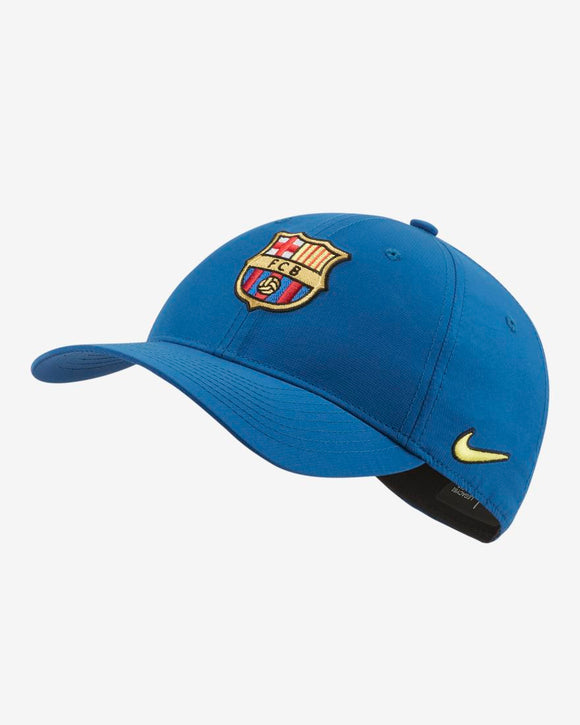Barcelona F.C. Soccer Football Legacy 91 Nike Royal Blue Adjustable Hat - Bleacher Bum Collectibles, Toronto Blue Jays, NHL , MLB, Toronto Maple Leafs, Hat, Cap, Jersey, Hoodie, T Shirt, NFL, NBA, Toronto Raptors