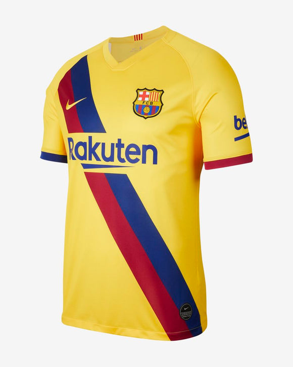 Men's 2019/20 Team Barcelona Football Club Away Yellow Stadium Official Nike Jersey - Bleacher Bum Collectibles, Toronto Blue Jays, NHL , MLB, Toronto Maple Leafs, Hat, Cap, Jersey, Hoodie, T Shirt, NFL, NBA, Toronto Raptors