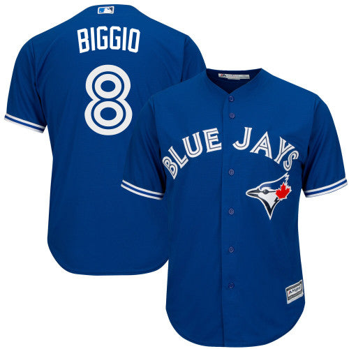 Men's Toronto Blue Jays Cavan Biggio Majestic Royal Cool Base Alternate Player Jersey