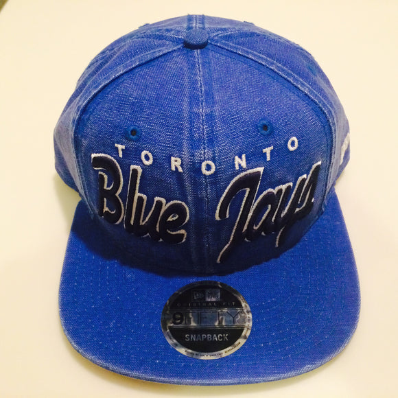 Toronto Blue Jays MLB Baseball 9Fifty Snapback Rugged Word Mark Hat Cap New Era One Size Fits Most - Bleacher Bum Collectibles, Toronto Blue Jays, NHL , MLB, Toronto Maple Leafs, Hat, Cap, Jersey, Hoodie, T Shirt, NFL, NBA, Toronto Raptors