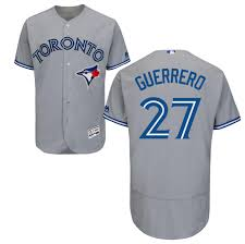 Men's Toronto Blue Jays Vladimir Guerrero Jr Majestic Grey Cool Base Road Player Jersey