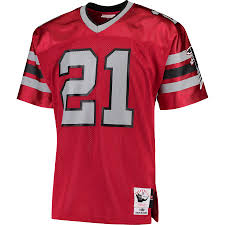 new style a1a1c 26c65 Men's Mitchell & Ness Deion Sanders Red Atlanta Falcons Retired Player  Vintage - Replica Jersey
