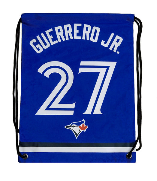 Toronto Blue Jays Forever Collectibles MLB Player Drawstring Gym Bag - Vladimir Guerrero Jr - Bleacher Bum Collectibles, Toronto Blue Jays, NHL , MLB, Toronto Maple Leafs, Hat, Cap, Jersey, Hoodie, T Shirt, NFL, NBA, Toronto Raptors