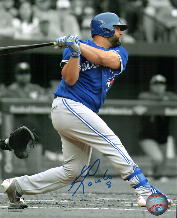 Toronto Blue Jays Kendrys Morales Signed MLB Baseball 8x10 Photo Autograph - Bleacher Bum Collectibles, Toronto Blue Jays, NHL , MLB, Toronto Maple Leafs, Hat, Cap, Jersey, Hoodie, T Shirt, NFL, NBA, Toronto Raptors