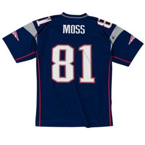online store 40835 8f312 Men's Mitchell & Ness Randy Moss Navy New England Patriots Retired Player  Vintage - Replica Jersey