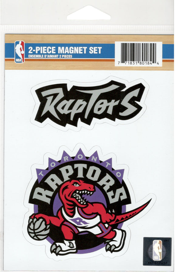 Toronto Raptors Hardwood Classic Retro Logo Basketball Collectors 2 Piece Magnet Set