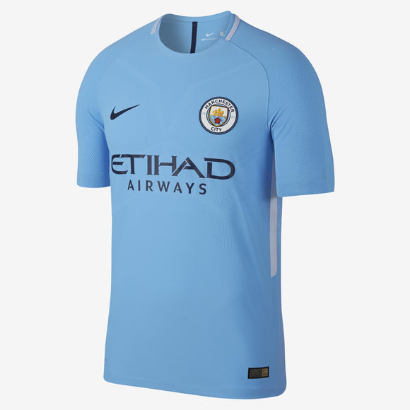 Men's 2017/18 Team Manchester City Football Club Home Blue Stadium Jersey - Bleacher Bum Collectibles, Toronto Blue Jays, NHL , MLB, Toronto Maple Leafs, Hat, Cap, Jersey, Hoodie, T Shirt, NFL, NBA, Toronto Raptors