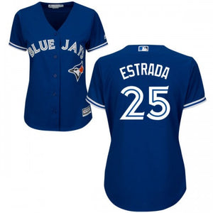 Women's Toronto Blue Jays Marco Estrada Majestic Royal Alternate Blue Cool Base Jersey - Bleacher Bum Collectibles, Toronto Blue Jays, NHL , MLB, Toronto Maple Leafs, Hat, Cap, Jersey, Hoodie, T Shirt, NFL, NBA, Toronto Raptors