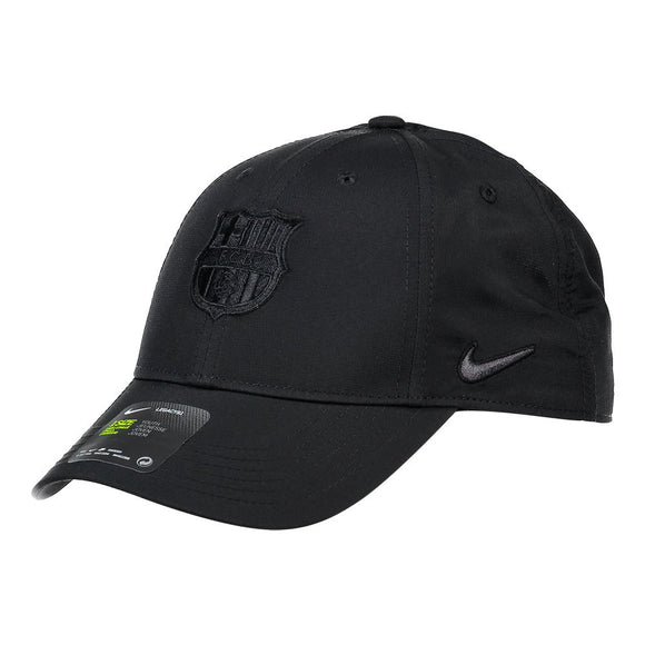 Barcelona F.C. Soccer Football Legacy 91 Nike Black on Black Adjustable Hat - Bleacher Bum Collectibles, Toronto Blue Jays, NHL , MLB, Toronto Maple Leafs, Hat, Cap, Jersey, Hoodie, T Shirt, NFL, NBA, Toronto Raptors