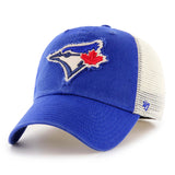 Toronto Blue Jays Men's MLB '47 Stamper Closer Stretch Fit Cap Hat - Multiple Sizes - Bleacher Bum Collectibles, Toronto Blue Jays, NHL , MLB, Toronto Maple Leafs, Hat, Cap, Jersey, Hoodie, T Shirt, NFL, NBA, Toronto Raptors