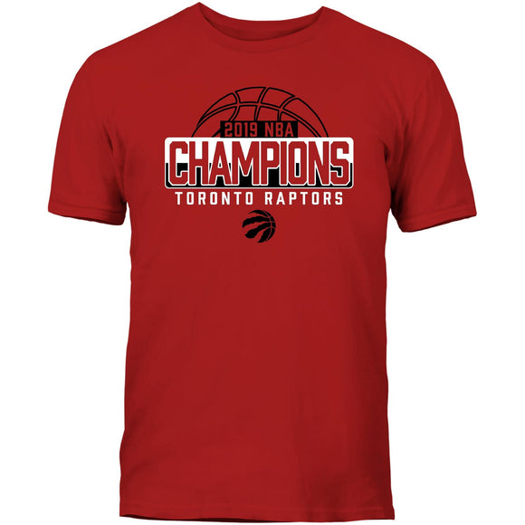 Men's Red Toronto Raptors 2019 NBA Finals Champions – Global Champions Champions T-Shirt