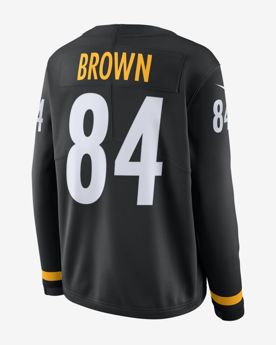 more photos 284c1 e02d2 Men's Pittsburgh Steelers Antonio Brown Nike Therma Long Sleeve Jersey –  Black