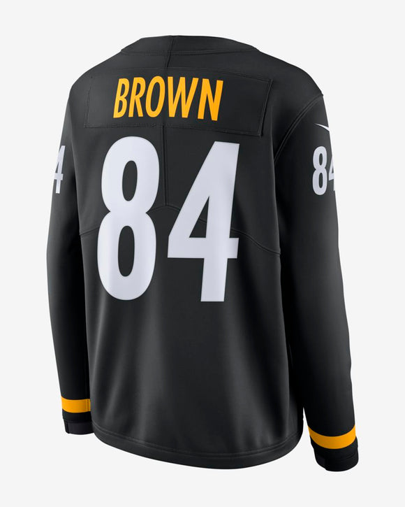 967a45db7f3 ... gold 49566 47995; new zealand mens pittsburgh steelers antonio brown  nike therma long sleeve jersey black bleacher bum collectibles