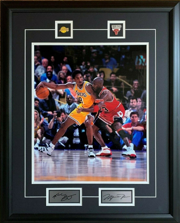 Michael Jordan Kobe Bryant Chicago Bulls Los Angeles Lakers 25x31 Framed Dual Picture NBA Basketball - Bleacher Bum Collectibles, Toronto Blue Jays, NHL , MLB, Toronto Maple Leafs, Hat, Cap, Jersey, Hoodie, T Shirt, NFL, NBA, Toronto Raptors