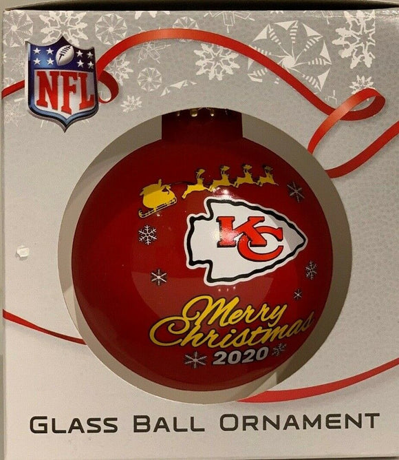 Kansas City Chiefs Shatter Proof Single Ball Christmas Ornament NFL Football
