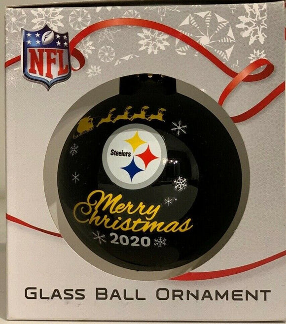 Pittsburgh Steelers Shatter Proof Single Ball Christmas Ornament NFL Football