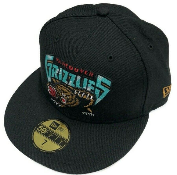 Men's New Era Black Vancouver Grizzlies Hardwood Classics Nights 59FIFTY - Fitted Hat - Bleacher Bum Collectibles, Toronto Blue Jays, NHL , MLB, Toronto Maple Leafs, Hat, Cap, Jersey, Hoodie, T Shirt, NFL, NBA, Toronto Raptors